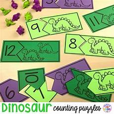 dinosaurs counting worksheets 15283 dinosaur counting puzzles for preschool pre k and kindergarten