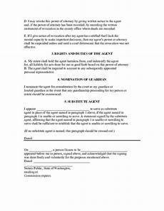 durable power of attorney exle washington free download