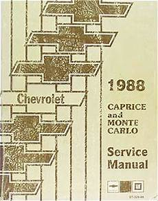 free auto repair manuals 1996 chevrolet caprice parking system 1988 chevy caprice and monte carlo repair shop manual 88 chevrolet service oem ebay