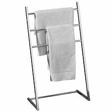 Porte Serviette à Poser Au Sol Chrome Floorstanding 3 Bar Tubular Sloping Towel Stand