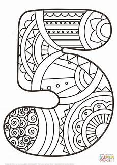 mandala coloring pages by numbers 17867 number 5 zentangle coloring mandalas numbers math for colouring pages och