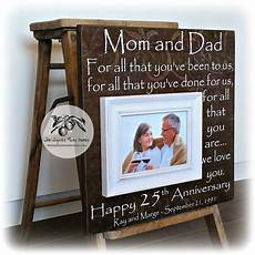 Wedding Anniversary Present Ideas For Parents 25th anniversary gifts for parents silver anniversary gift