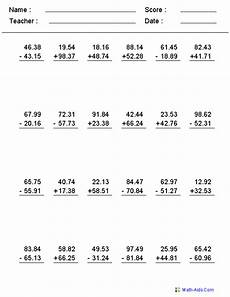 adding and subtracting decimals worksheets grade 5 7376 decimals worksheets decimals worksheets