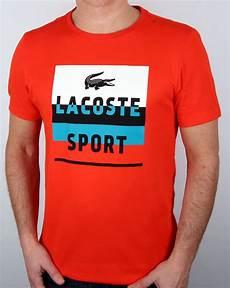 t shirt lacoste sport lacoste sport print t shirt etna white s