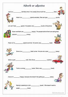 adverb or adjective worksheet free esl printable worksheets made by teachers