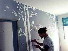 Wandbemalung Kinderzimmer Selber Machen - kinderzimmer wandbemalung muster stoff on innen und aussen