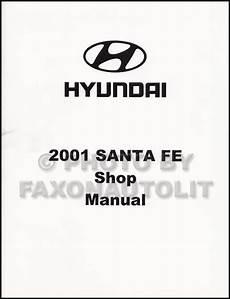 old car manuals online 2001 hyundai santa fe 2001 hyundai santa fe shop manual repair service book gl gls lx factory ebay