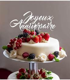 Cake Topper Joyeux Anniversaire En Impression 3d By Le