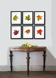 fall decorations maple leaf of 6 botanical prints wall art home decor ebay