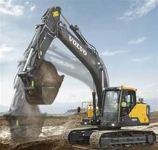volvo ce intros ec160e excavator with power fuel