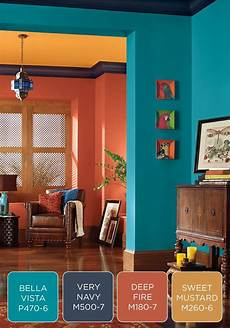 make a bold statement in your entryway with a colorful behr paint palette try fresh blue