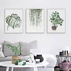 wandbilder wall 2019 nordic minimalist watercolor green plant leaf posters