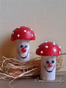 fall craft for recycling craft cork mushrooms