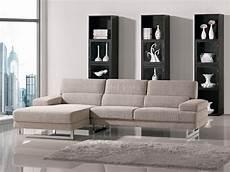 beige fabric l shape modern sectional sofa w metal