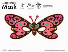 butterfly mask coloring page education