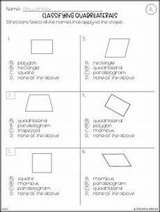 classifying and categorizing worksheets for 3rd grade 7941 no prep 3rd grade classifying quadrilaterals worksheets answer