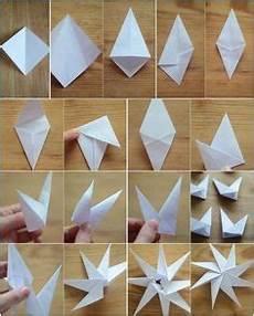 8 Zackige Origami Sterne Aus Papier Falten Anleitung
