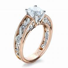 rose gold diamond engagement ring joseph jewelry seattle bellevue wedding rings pinterest
