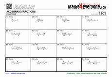 fraction worksheets ks4 3995 algebraic fractions gcse revision worksheet solving equations teachwire teaching resource