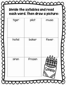 syllable patterns v cv worksheets and decodable story by smartyplans