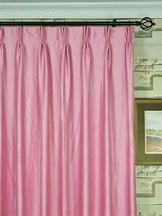 wide swan pink and solid pinch pleat