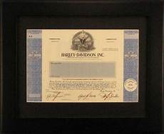 Harley Davidson Certification by Harley Davidson Inc Specimen Stock Certificate