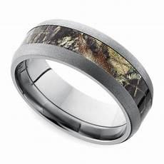 beadblast domed camouflage inlay men s wedding ring in