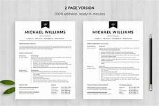 modern resume template and cover letter template quot michael