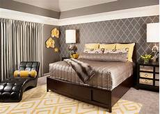 Grey Simple Bedroom Ideas by Cheerful Sophistication 25 Gray And Yellow Bedrooms