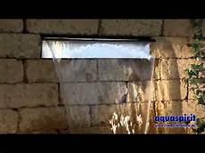 mauer mit wasserfall aquafall toller edelstahl wasserfall aquaspirit