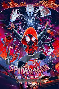 spider into the spider verse poster by martin ansin
