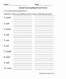 spelling worksheets the consonant 22353 week 6 c consonant second grade spelling worksheets grade spelling 2nd grade spelling words