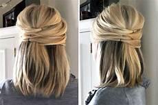 Halb Hochgesteckte Haare - half up elegante halb hochgesteckte haare