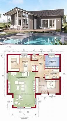 Winkelbungalow Im Landhausstil Mit Satteldach Architektur