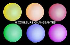 boule a led 6 couleurs d 8 cm pile incluse top ambiance en