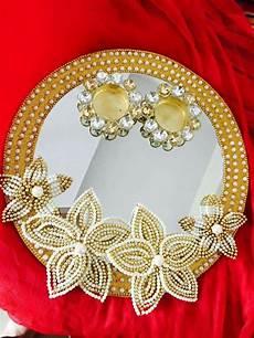 ring platter crafts teelichter goldener kuchen dekorieren