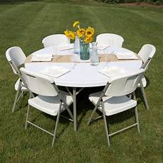 round folding table 60 quot heavy duty plastic white granite lancaster table seating