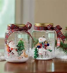 Schneekugel Selber Basteln - schneekugel selber machen tannenbaum glas schneemann band