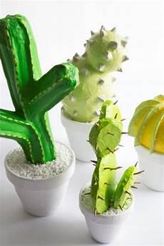 diy papier mache cacti design sponge