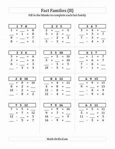 addition worksheets basic facts 8787 pin on math