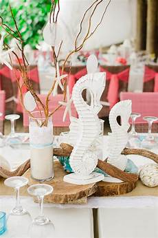 beach theme wedding centerpieces destination wedding details