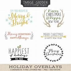 holiday overlays vector files overlays happy merry christmas holiday