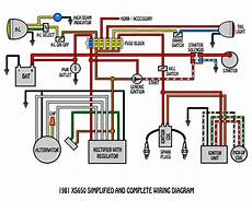 xs650 simplified and complete wiring diagram electrical electronics concepts pinterest