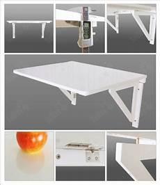 table dépliante murale sobuy fwt05 w table murale rabattable pliable en bois 75