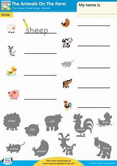 animals and their worksheets 14100 the animals on the farm worksheet write the animal simple