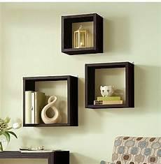 details about floating wall cube box shelf shelves light oak dark walnut of 3 modern in 2019
