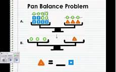 pan balance problem youtube
