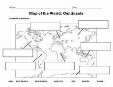 label map of the world continents oceans mountain