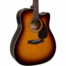 yamaha fx335c dreadnought acoustic electric guitar tobacco