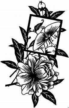 japanische huebsche blueten ausmalbild malvorlage blumen